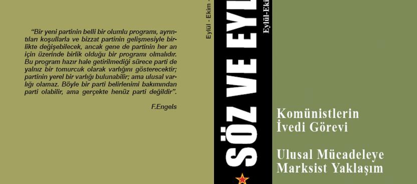 Söz ve Eylem Kitap 1. Sayı (Eylül – Ekim – Kasım 2015)