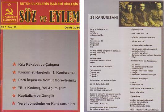 Söz ve Eylem 29. Sayı (Ocak 2014)