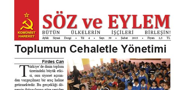 Söz ve Eylem 39. Sayı (Şubat 2015)