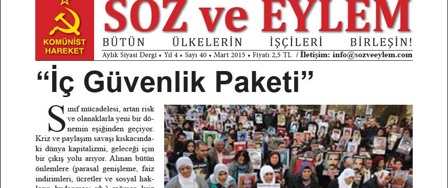 Söz ve Eylem 40. Sayı (Mart 2015)
